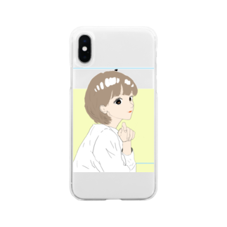 snowballのgirls talk Soft clear smartphone cases