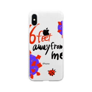 six feet away from me コロナ ソーシャルディスタンス Soft clear smartphone cases
