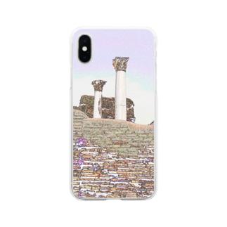 CG絵画:オスティアの神殿遺跡 CG art: Ostia Soft clear smartphone cases
