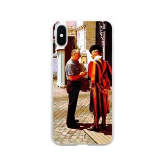 CG絵画:バチカンのスイス人衛兵 CG art: Vatican Guard Soft clear smartphone cases