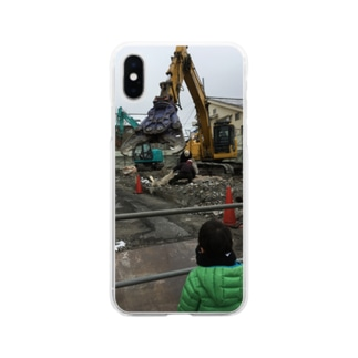 カッター 重機 Soft clear smartphone cases