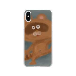 たぬき Soft clear smartphone cases
