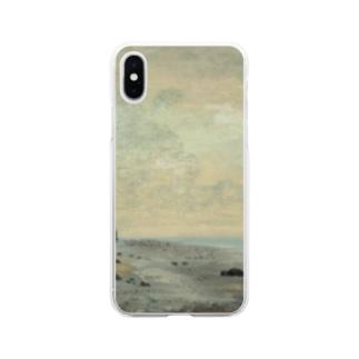 teki shopの日の出(モネ) Soft clear smartphone cases