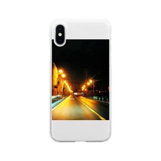 サイレントタウン Soft clear smartphone cases