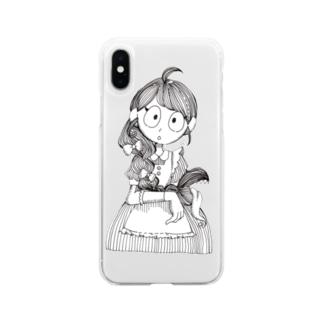 カメレオンの夢ショップの三姉妹(三女) Soft clear smartphone cases