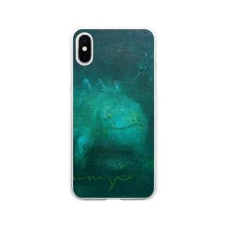 月ノ子の森に恋してのムラナギ/グエルの居る夜 Soft clear smartphone cases
