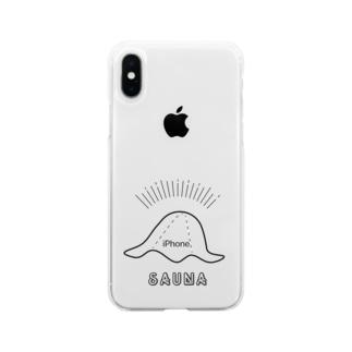 SAUNA_HAT Soft clear smartphone cases