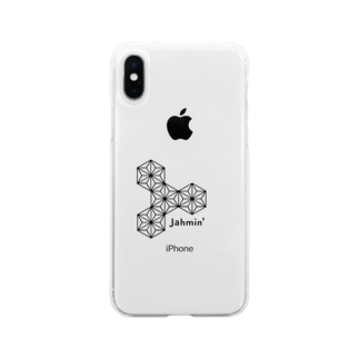 Jahmin 麻柄 logo Soft clear smartphone cases