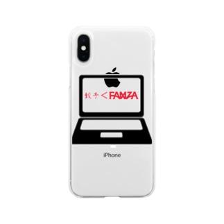餃子よりFA〇ZA Soft clear smartphone cases