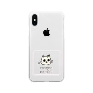 ララミねこ Soft clear smartphone cases