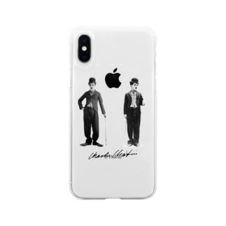 チャップリン  Soft clear smartphone cases