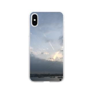 飛行機雲 Soft clear smartphone cases