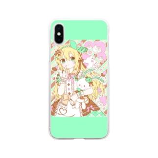 お菓子の国のチョコミントアリス Soft clear smartphone cases