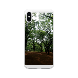 或る by 千~sahasraのwoods and soil Soft clear smartphone cases