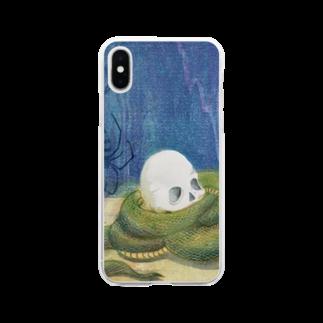 版画工房かさねの僧死相愛 Soft clear smartphone cases