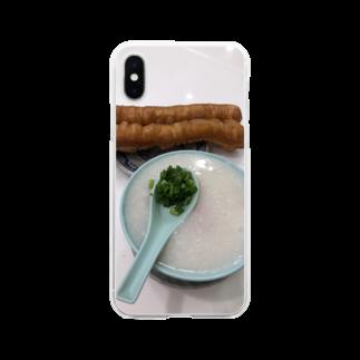 HKGの香港粥 Soft clear smartphone cases
