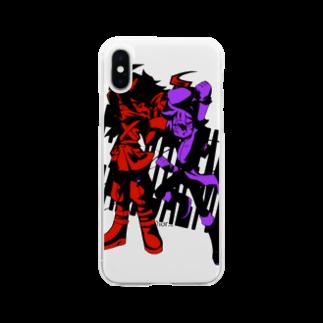 うなぎんがのハロルド&ミロス Soft clear smartphone cases