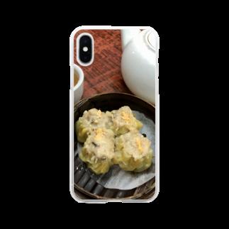 HKG パンダの燒賣 Soft clear smartphone cases