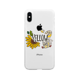 _pallet_のyellow goods Soft clear smartphone cases