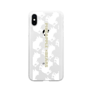 pineappleベアー Soft clear smartphone cases