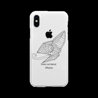 蟻さん@おえかきのカメレオン Soft clear smartphone cases