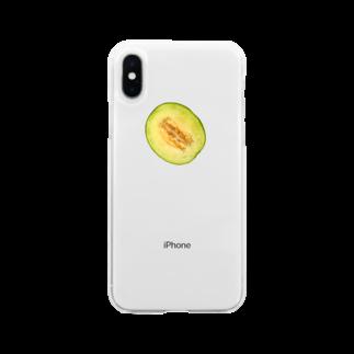島のアイランドのメロン Soft clear smartphone cases
