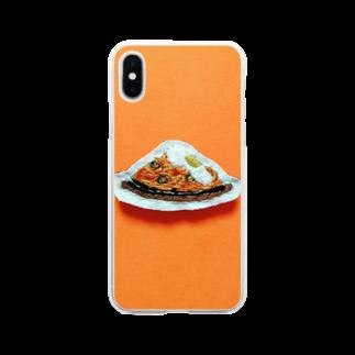 m_shishuuの目玉焼きのせ鉄板ナポリタン Soft clear smartphone cases