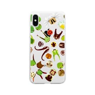 イモムシのお顔 Soft Clear Smartphone Case