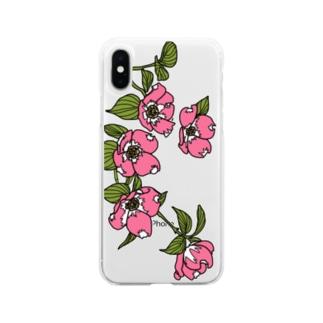 ハナミズキ Soft clear smartphone cases