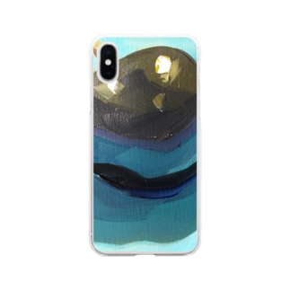 Yuri_Paintingのブラックプラム Soft clear smartphone cases