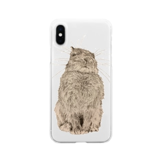 うさぎ親方(じゃがまる) Soft clear smartphone cases