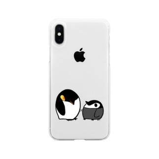 まんまるペンギン Soft clear smartphone cases