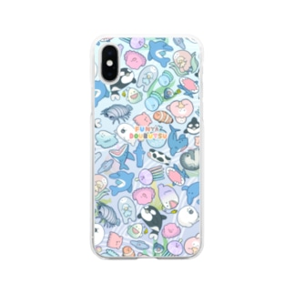 tunralのフニャどうぶつ(うみ) Soft clear smartphone cases