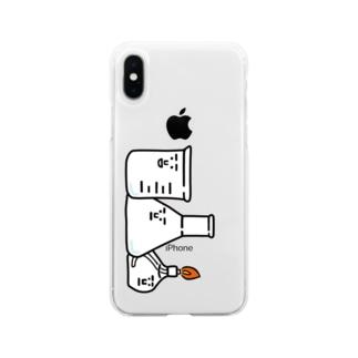 主要3キャラ Soft clear smartphone cases