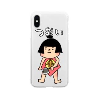 まさかりJr. Soft clear smartphone cases