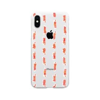 走る!コーギー Soft clear smartphone cases