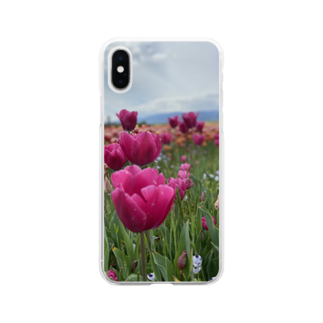 PENTAXのお花畑 Soft clear smartphone cases