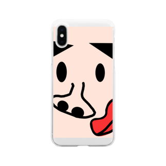 taroyanのぴーちゃん Soft clear smartphone cases