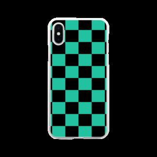 MIMOKAの市松刃  Soft clear smartphone cases