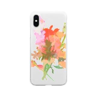 花束 Soft clear smartphone cases