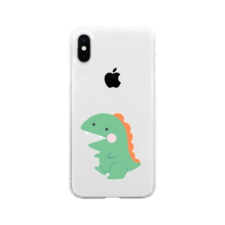 きょうりゅう Soft clear smartphone cases