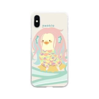 アマビエ様 Soft clear smartphone cases