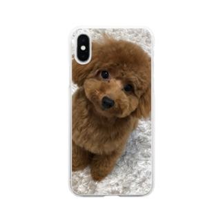 全面にメルちゃん Soft clear smartphone cases
