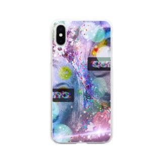 可愛い女の子(演) Soft clear smartphone cases