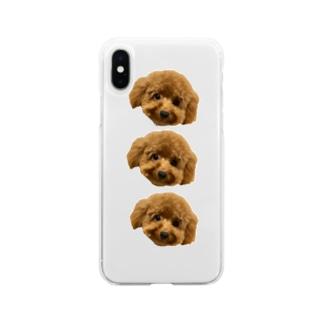 整列メルちゃん Soft clear smartphone cases