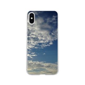 田舎のあの日の空です。 Soft clear smartphone cases