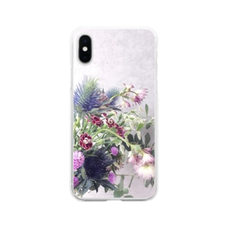 【花束】iPhoneケース Soft clear smartphone cases