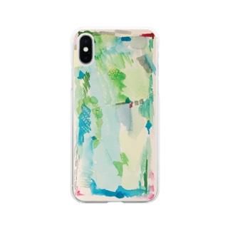 ハタケ tate Soft clear smartphone cases