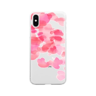 ピンク Soft clear smartphone cases