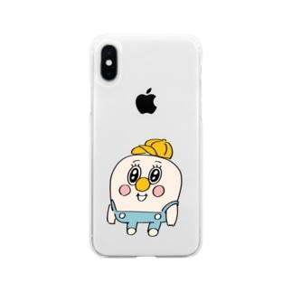 童貞くん Soft clear smartphone cases